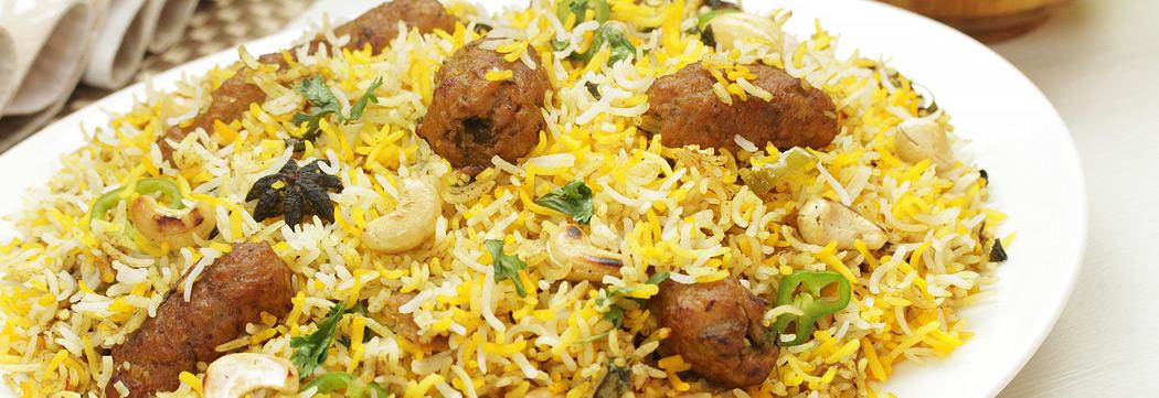 Kashmiri Kabab Biryani