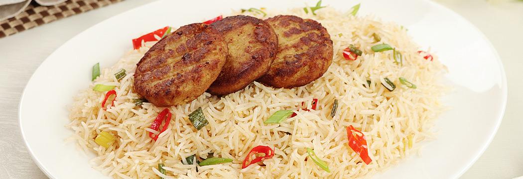 Chili Garlic Rice Shami Kabab